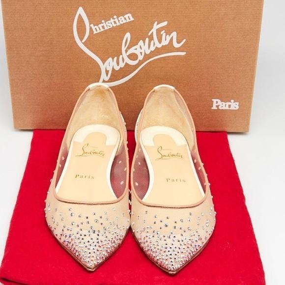 2b3bba03f2c Christian Louboutin Shoes - Christian Louboutin Follies Strass Crystal Shoes